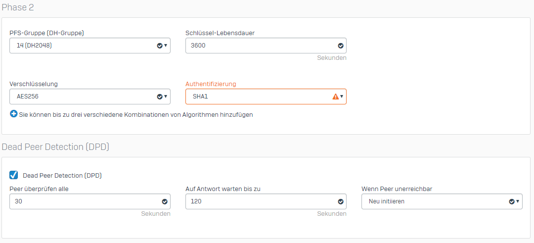 Sophos XG - Fritz!Box - IPsec VPN - Network and Routing - XG