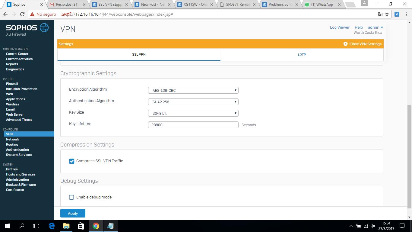 Captura de pantalla  2800 35 2900  - Sophos Ssl Vpn Client Mac Download