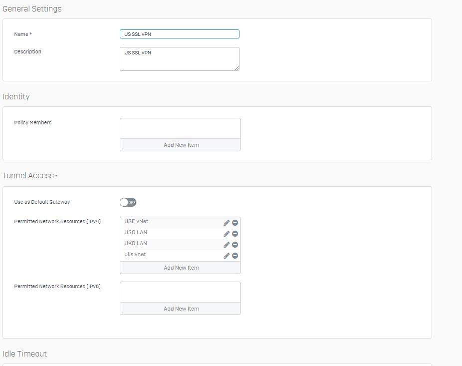 remote desktop / SSL VPN CLIENT - Network and Routing - XG