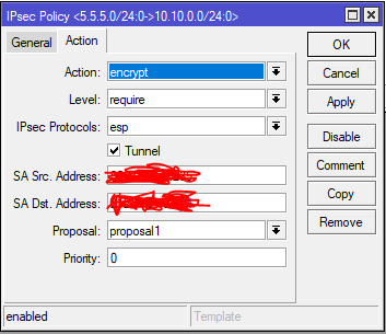 VPN IPsec Connections Sophos XG to Mikrotik - Network and Routing