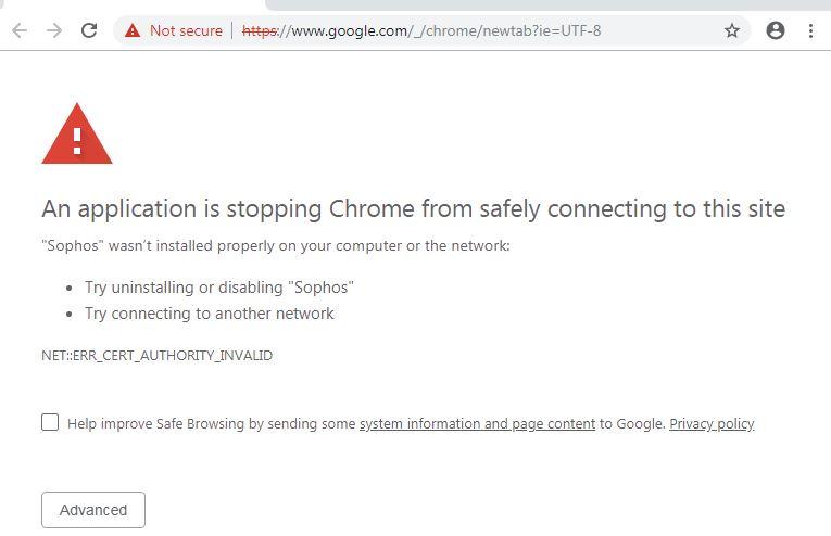 Captive portal is not working in few sites like google