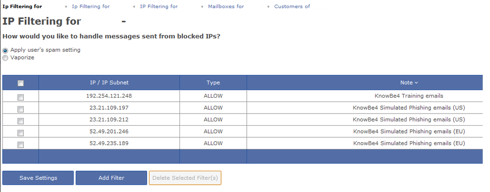 Feature Request - Allow and block by IP address - Forum