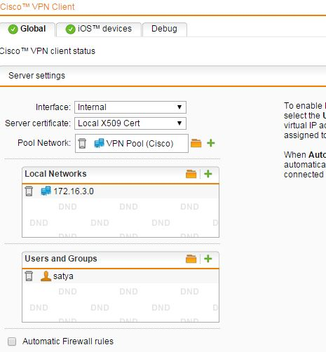 how to configure cisco remote vpn in sophos - Community