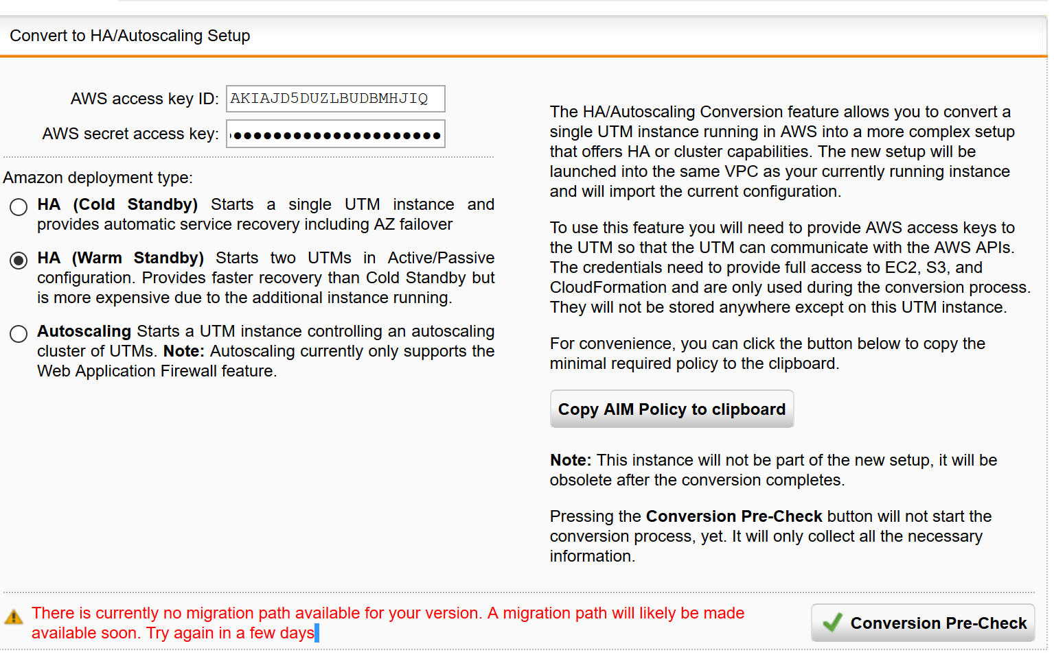 Forum for HA and Autoscaling UTM deployments @ AWS? - UTM on