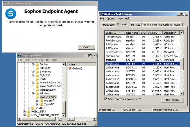 Can't uninstall endpoint agent! - Sophos Endpoint Software
