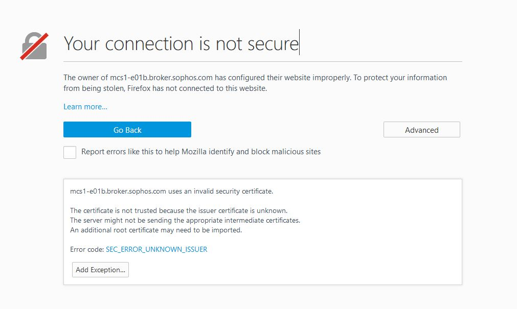No longer updating - SSL Cert not trusted? - Sophos Endpoint ...