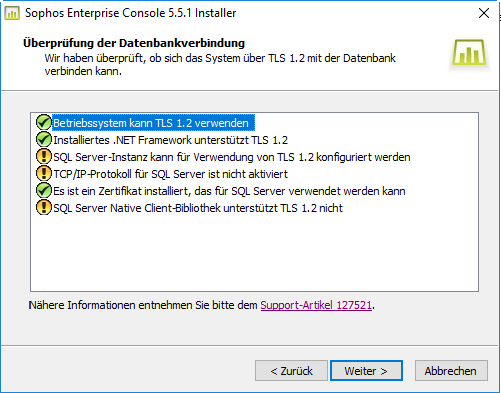 SEC 5.5.1 and SQL Server configuration for TLS 1.2 - Sophos Endpoint ...