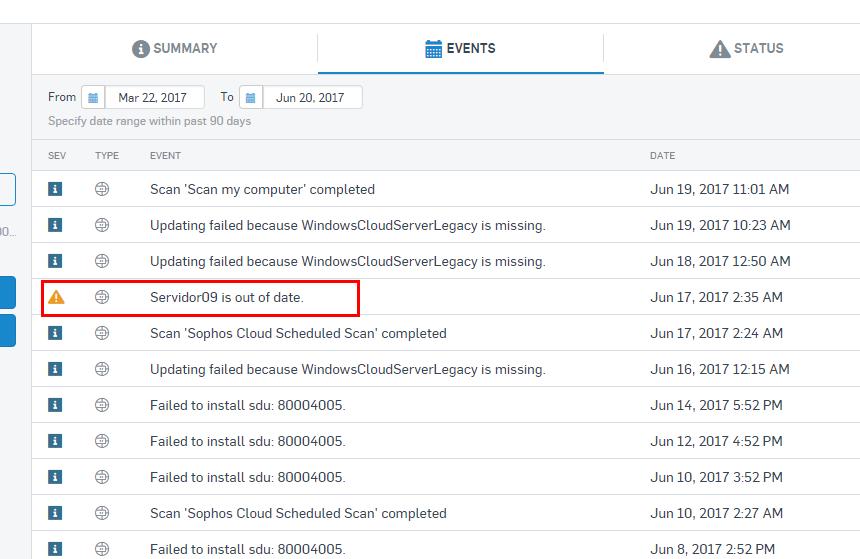 Problem With program actualization - Sophos Endpoint Software