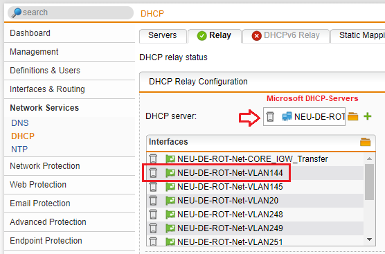 DHCP Relaying via Sophos UTM - PXE Boot not possible - General