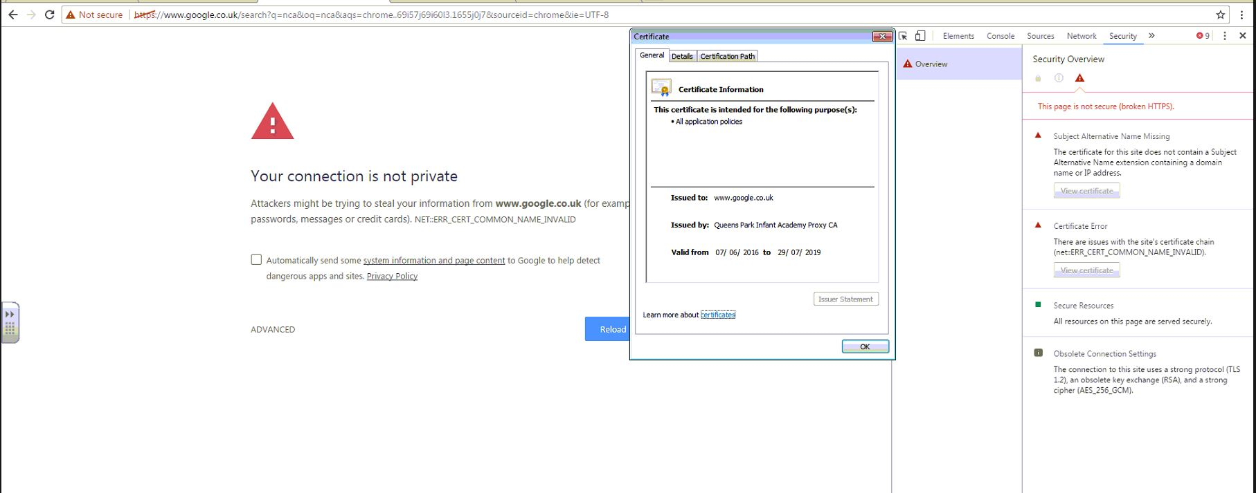 Google Chrome Ssl Cert Issue Only General Discussion Sophos Utm