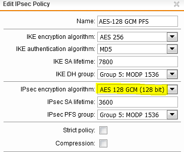 IPsec VPN: best policy for encryption? - General Discussion