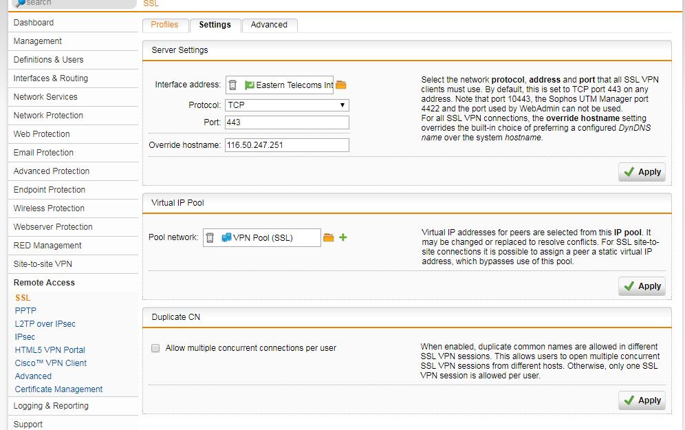 Help Set Up Remote Access Ssl Vpn General Discussion Sophos Utm