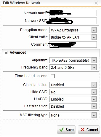 Wifi with RADIUS authentication UTM 9 - General Discussion