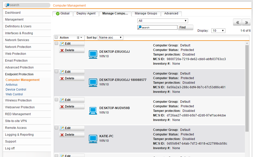 In my default endpoint group are all my endpoint computers