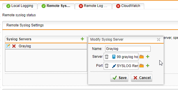 Need help with Remote Syslog Settings - Management