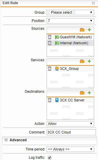 3CX external clients trying to connect 3CX hosted in Cloud - Network