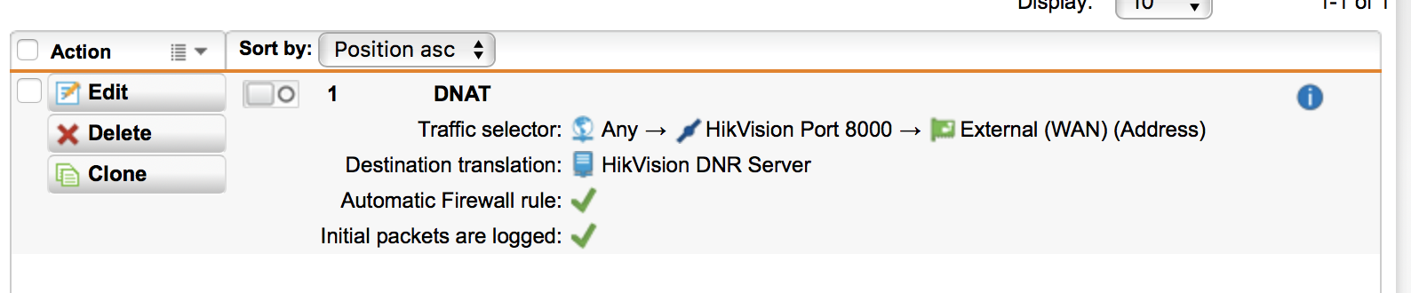 Connecting a HikVision DVR (security cameras) to the DMZ port for