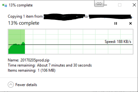 Slow file transfer speeds - Network Protection: Firewall, NAT, QoS