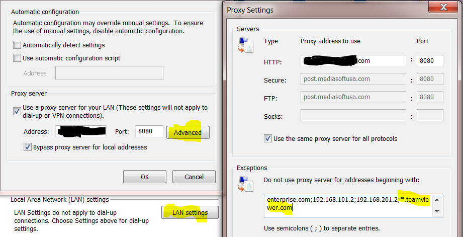Teamviewer Connections Blocked In Proxy Standard Mode