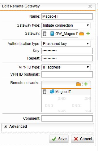 Site-to-Site VPN between UTM9 and Ubiquiti Unifi Security Gateway