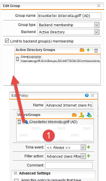 Using STAS with Backend Groups not applying policy - Web