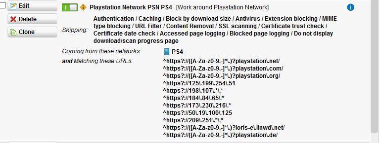 PS4 Webfilter Help - Won't Download - Web Protection: Web Filtering
