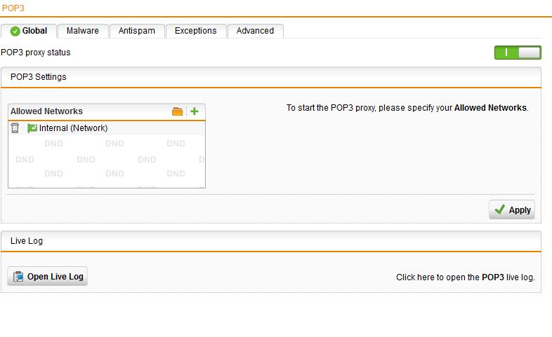 Utm 9 pop3 proxy ssl