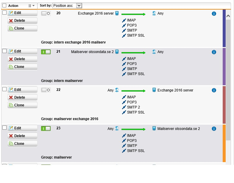 problem with Exchange 2016 in utm - Mail Protection: SMTP