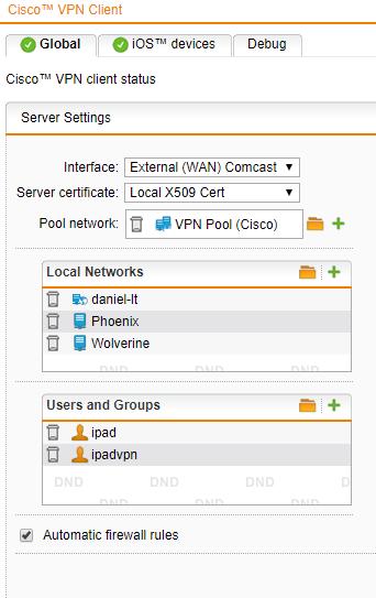 Cisco Debug Interface