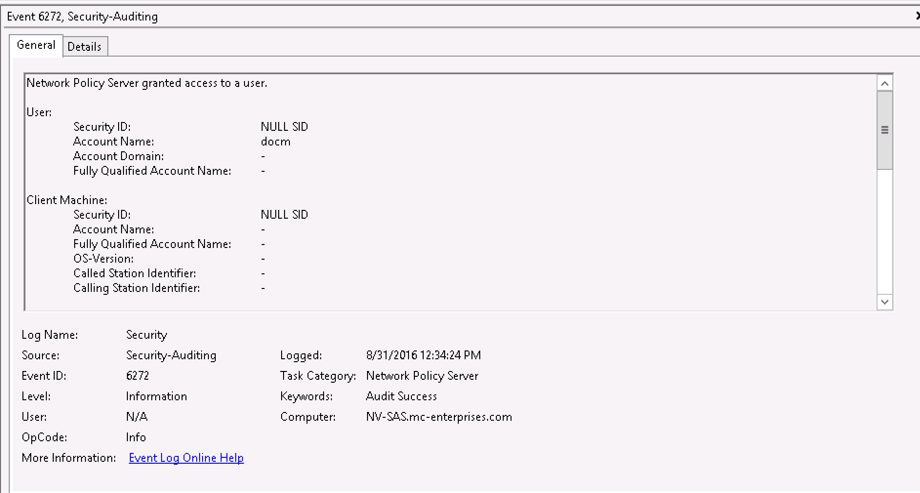 Sophos UTM and Windows 2012 NPS RADIUS fails - VPN: Site to Site and