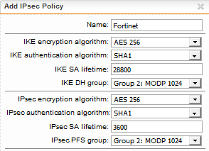 IPSEC VPN fortigate - VPN: Site to Site and Remote Access - Sophos