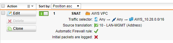 Sophos UTM 9 with AWS Site-to-Site VPC: Tunnels up, but no