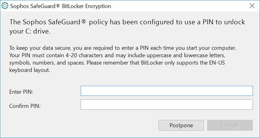 Bitlocker not encrypting, bad password? - Forum - SafeGuard