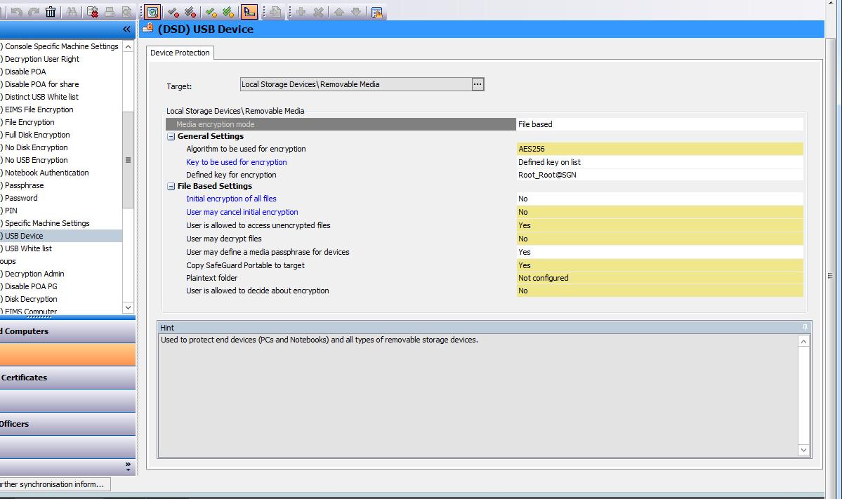 sophos safeguard portable passphrase
