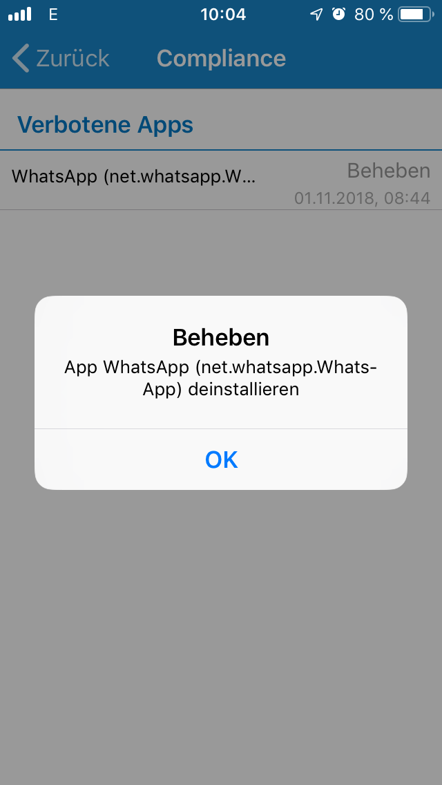 WhatsApp Detection on iPhone do not work - Sophos Mobile