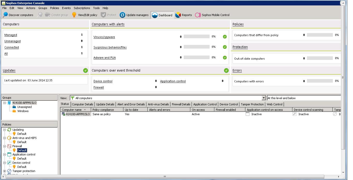 linux servers not visible on sophos enterprise console - Sophos
