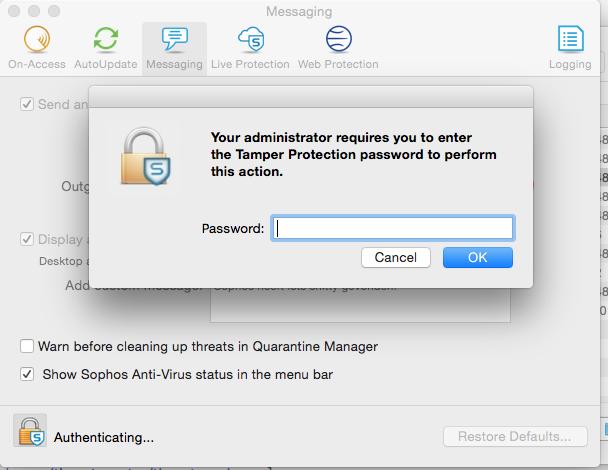 remove sophos antivirus mac