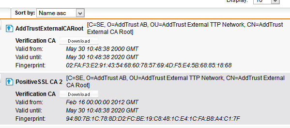 No Luck Using a SSL Certificate with WebAdmin/User Portal - General ...