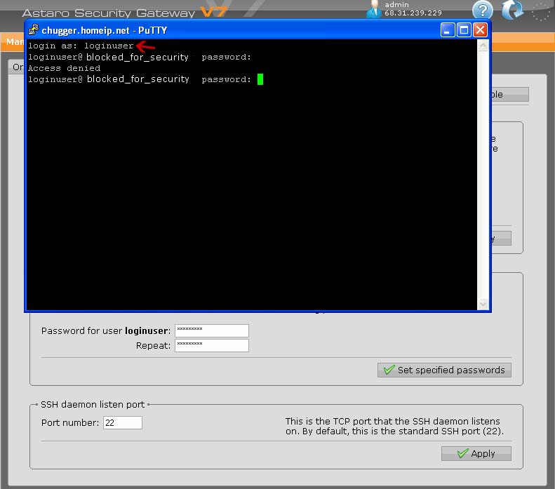 Logging In Via SSH - Not Working? - Network Protection: Firewall