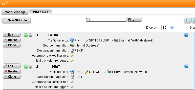 PBX In A Flash and SIP - Network Protection: Firewall, NAT