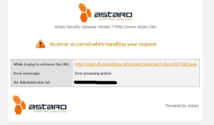 Cannot download files anymore - Web Protection: Web Filtering