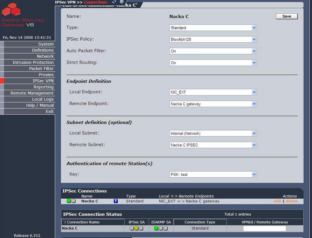 setting up sophos site to site access Ipsec vpn is a security feature that allow you to create secure communication link (also called vpn tunnel) between two different networks located at different sites cisco ios routers can be used to setup vpn tunnel between two sites traffic like data, voice, video, etc can be securely transmitted through the vpn tunnel.