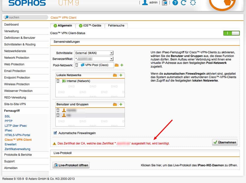 Cisco VPN Client with Thawte SSL123 - VPN: Site to Site and Remote ...