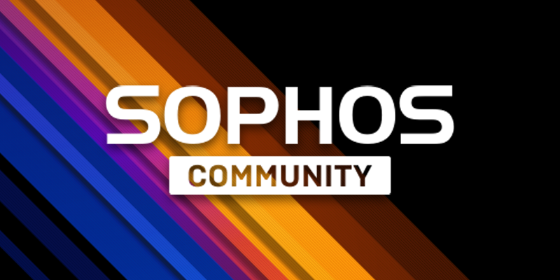 Sophos Community will be unavailable on Saturday, September 12th for approximately 5 hours starting at 13:00 UTC.