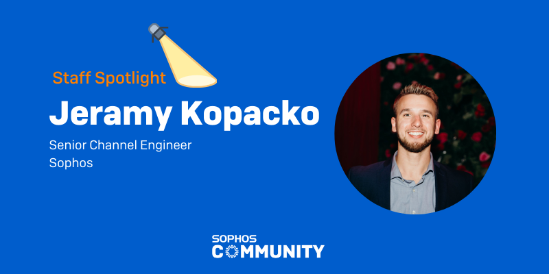 Sophos Community: Staff Spotlight - Jeramy Kopacko