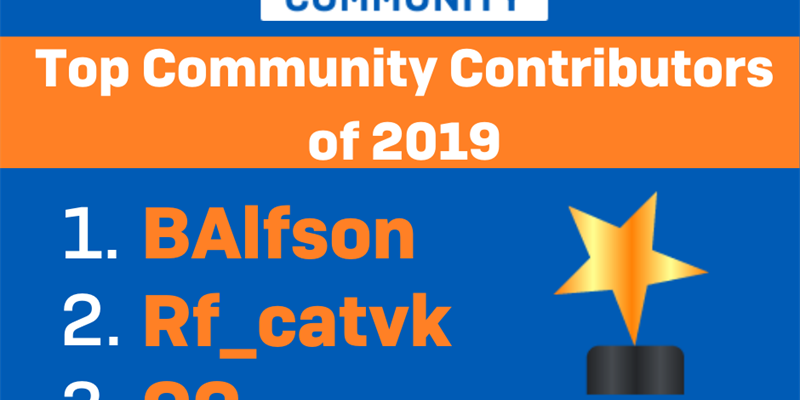 Top Community Users for 2019