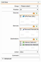 RDP does not work over SSL VPN - General Discussion - Sophos