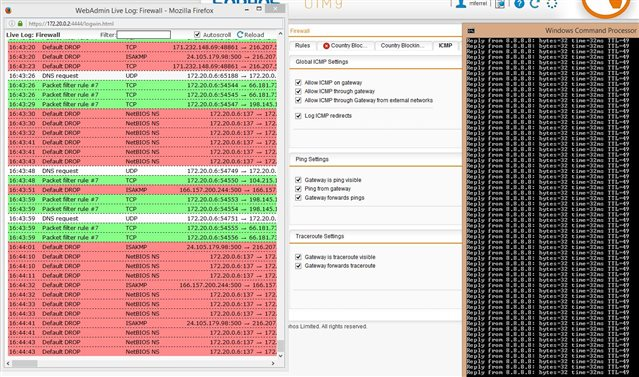 live monitoring of ping traffic - Management, Networking, Logging